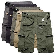 Herren Cargo Bermuda Shorts Army Chino Cargohose Arbeitshose Freizeit Kurz Hosen