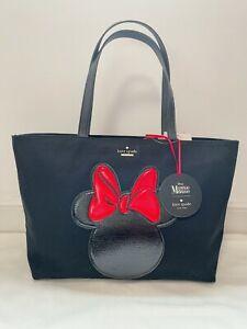NWT Kate Spade X Disney Black Francis Tote With Minnie Mouse Appliqué PXRU6509