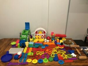 Play Doh Tools & Accessories 75+ Piece Lot - Cutters Molds Sets Disney Food