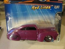 Hot Wheels Tail Dragger Red Lines #100 Purple