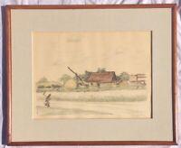 Hungarian Landscape by Adolf Fenyes Signed Original Etching