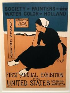 Charles Woodbury Original Poster - Boston Arts & Crafts - Price Reduced!
