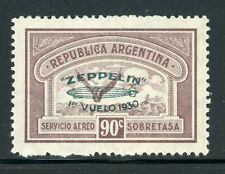 ARGENTINA MNH Selections: Scott #C27 90c GRAF ZEPPELIN Green OVPT CV$13++