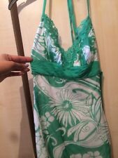 Jane norman printed green cami top size 6