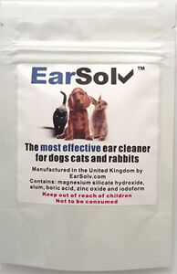 EarSolv Dog Ear Cleanser For Dogs Cats and Rabbits (Sachet)