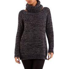 Damen-Pullover aus Mischwolle ohne Muster