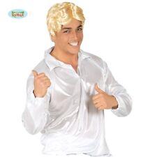 Camicia disco anni 70 bianca iridescente taglia unica