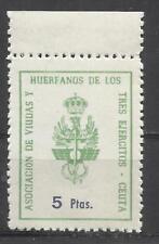 5798-SELLOS FISCAL NUEVO MNH** HUERFANOS Y VIUDAS 3 EJERCITOS,LOCAL CEUTA,AFRICA