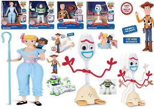 Toy Story 4 Buzz Lightyear Woody Bo Peep Forky Interactive Talking Friends 4+