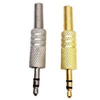 3.5mm 3 Pole Jack Plug Metal Audio Soldering Spring Replacement Repair Headphone