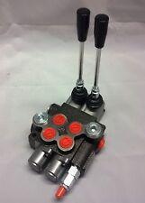 Hydraulikventil Handsteuerventil 40L Handhebelventil 2-Heblig für 2xdw Zylinder