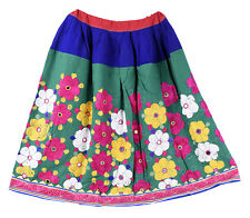 Traditional Women Skater Long Banjara Skirt Indian Embroidered Vintage Skirts