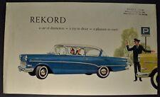 1959 Opel Rekord Catalog Sales Brochure Buick Excellent Original 59