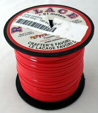Red Rexlace Craft-Strip Plastic Lace / Boondoggle (100 Yard Spool)