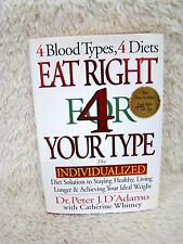 Eat Right 4 Your Type (1996) by Dr. Peter J. D'Adamo Hardback Book, VG Condition