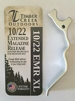 TIMBER CREEK - RUGER 10/22 XL EXTENDED MAGAZINE RELEASE LEVER - ANODIZED SILVER