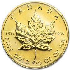 1982 Canada 1/4 oz Gold Maple Leaf BU - SKU #82819