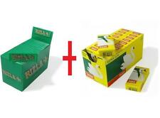 NEW 600 x Rizla Green Regular Rolling Papers & Swan Extra Slim Filter Tips Smoke