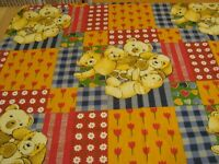 """One yd Retro Old time Teddy Bear Cheater Quilt FABRIC Cotton Craft 46"""" x 36"""" BTY"""
