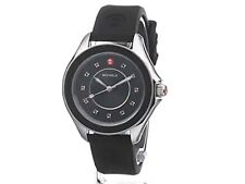 MICHELE Women's MWW27A000006 CAPE Analog Display Swiss Quartz Black Watch