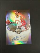 2015-16 PANINI TOTALLY CERTIFIED ANDRE DRUMMOND MIRROR GOLD AUTO 10/10 PISTONS