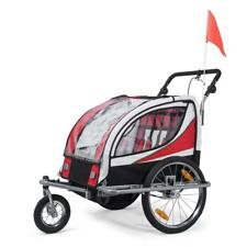 Remorque Vélo convertible Jogger 2en1 Enfants 360° Rotatif Amortisseur SAMAX