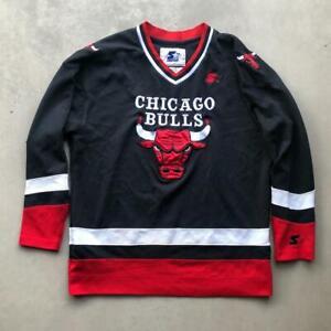 Rare VTG 90s Starter Chicago Bulls STITCHED NBA Basketball Hockey Jersey L