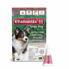 Bayer K9 Advantix II for Large Dogs 21-55 lbs - 6 Pack - Fast FREE Shipping!