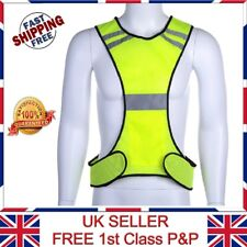 High Visibility Reflective Safety Fluorescent Mesh Vest Running Cycling Sports