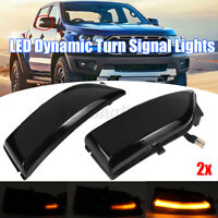 2x LED Dynamic Turn Signal Light Indicator Repeater For Ford Everest 2015-2019