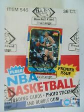 1986 Fleer Basketball Unopened Box With Jordan On Top Of A Pack BBCE Letter