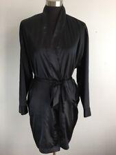 Victoria's Secret Sleepwear Dressing Robe One Size OS S M L Black Belt Pockets