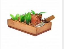 miniature dolls house accessories Seedbed with Trowel and Seedlings 1:12th scale