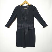 Bluejuice Size 8 Black Long Sleeve lace Detail Bodycon Dress