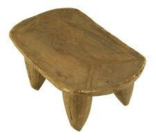"Senufo Wood Stool 14"" - Bird Carving - Ivory Coast African Tribal Art"