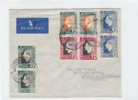 south africa 1937 to germany  air mail stamps cover ref r15476