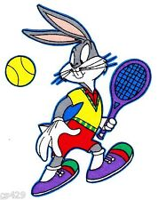 "5"" LOONEY TUNES BUGS BUNNY TENNIS SPORTS CHARACTER FABRIC APPLIQUE IRON ON"