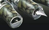 "New Stipula DaVinci ""Cracked Ice"" Fountain Pen Medium or 0.9mm Italic Nib"