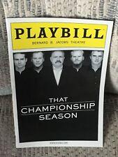 THAT CHAMPIONSHIP SEASON Playbill - Keifer Sutherland Jason Patric  - FREE SHIP