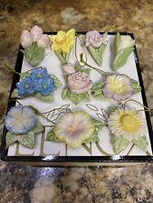 Lenox Celebrate Flowers Ornaments Set Of 10 New In Box
