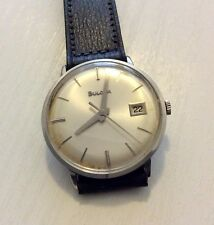 Good Gents Vintage 1960's Mechanical Bulova Wristwatch Works Well Nice