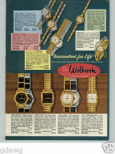 1958 PAPER AD Wolbrook Wrist Watch Sea Hawk Top Perforance Gold Quebec Rancho