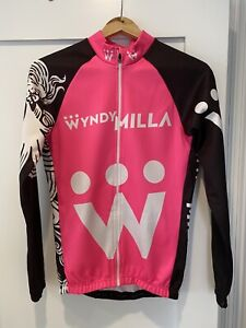 WyndyMilla Pink Winter Cycling Jersey