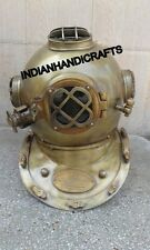 Antique Brass Scuba Diving Divers Helmet US Navy Mark V Vintage Recreation