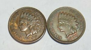 1890 1899 INDIAN HEAD CENTS FULL LIBERTY