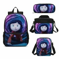 Movie Coraline Kids School Backpack Lunchbox Sling Bag Pen Case Student Gift Lot