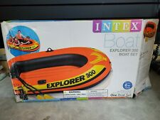Intex Explorer Compact Inflatable Fishing 3 Person Raft w/ Pump & Oars (Used)