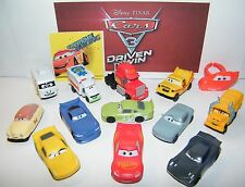 Disney Cars 3 Movie Plastic Car Set of 14 with 12 Cars, Car Ring and Sticker