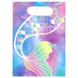 Mermaid Party Lootbags 8pk - Mermaid Tail Party Supplies