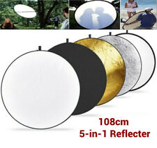 """108CM 43"""" 5-in-1 Photography Studio Multi Photo Disc Collapsible Light Reflector"""